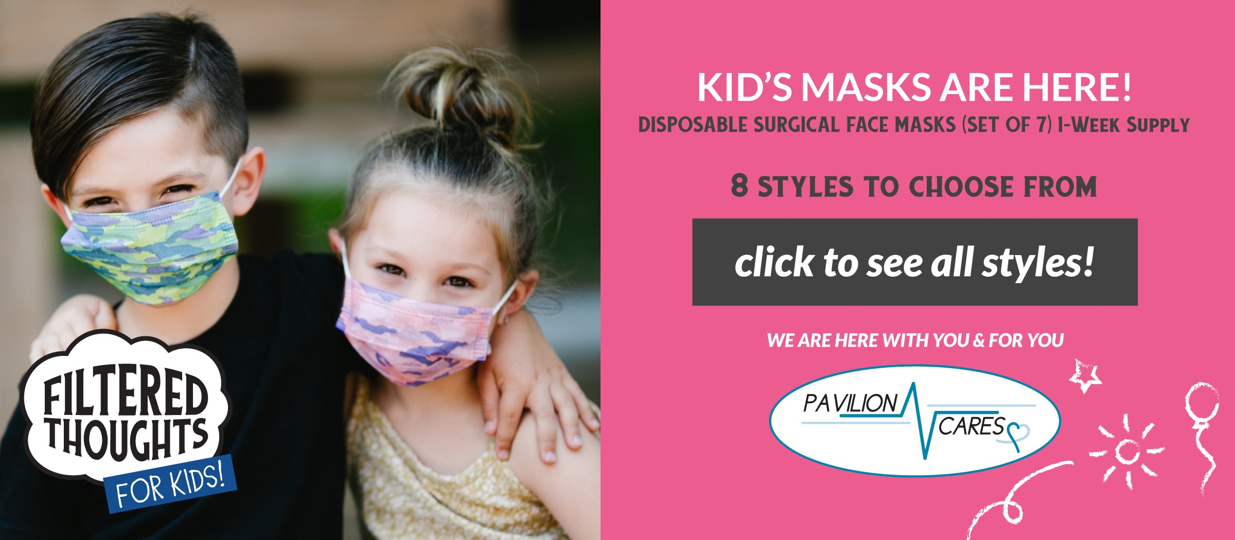 Kid's Face Masks - Coming Soon