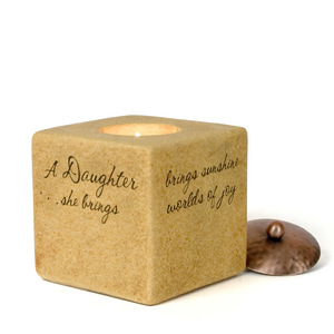 "Daughter by Comfort Candles - 3.5"" Square"