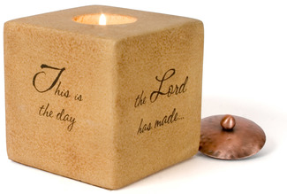 "Rejoice by Comfort Candles - 4"" Square"