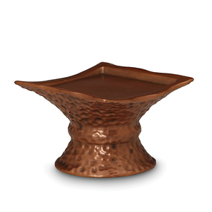 "Cyl Hammered Copper Pedestal by Comfort Candles - 4.25"" H"