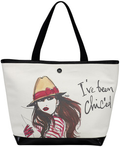 "I've been Chic'ed by IZAK - 16"" x 12"" Canvas Tote Bag"