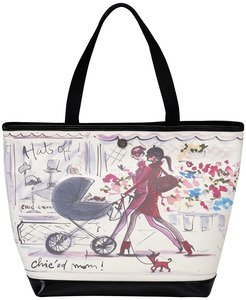 "Chic'ed Mom by IZAK - 16"" x 12"" Canvas Tote Bag"