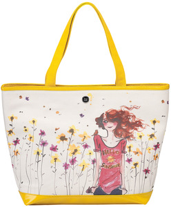 "Hello Sunshine by IZAK - 16"" x 12"" Canvas Tote Bag"