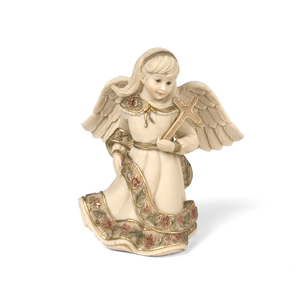 "Angel with Cross by Sarah's Angels - 4"" Angel with Cross"