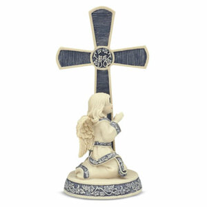 "Heart of Glory Cross w/Child by Sarah's Angels - 5"" Cross"