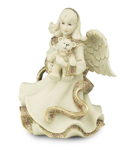 "Angel Holding Teddy Bear by Sarah's Angels - 6"" Angel"