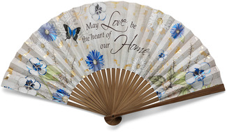 "Home by Bonita - 22"" x 12"" Decorative Fan"