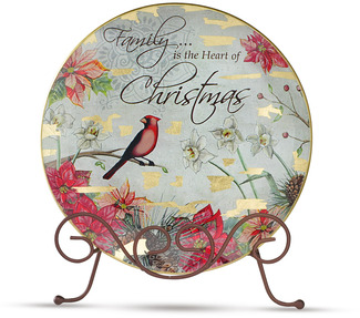 "Christmas by Bonita - 8"" Decorative Cardinal Plate"