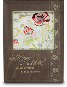 "Lo Mejor de la Vida by Bonita - 5.5"" x 7.5"" Plaque with Spanish Sentiment"