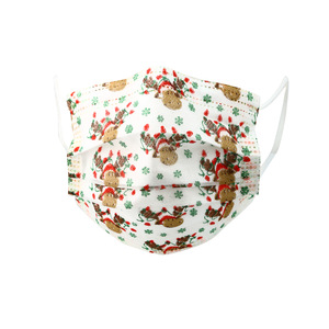 Holiday Moose by Pavilion Cares - Kid's Disposable 3-Layer Face Mask (Set of 7)
