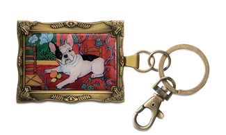 "French Bulldog - Muttisse by Paw Palettes - 2""x 2.75"" Key Chain"