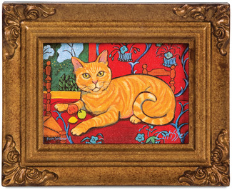 "Orange Tabby - Catisse by Paw Palettes - 3.5""x5"" Framed Canvas"