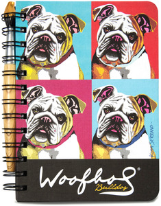 "Bulldog Woofhol by Paw Palettes - 5"" x 7"" Journal & Pen Set"