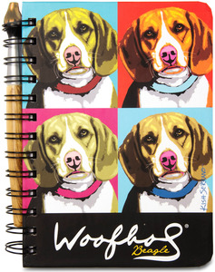 "Beagle Woofhol by Paw Palettes - 5"" x 7"" Journal & Pen Set"
