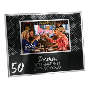 "50 by Salty Celebration - 9.25"" x 7.25"" Frame (Holds 6"" x 4"" Photo)"
