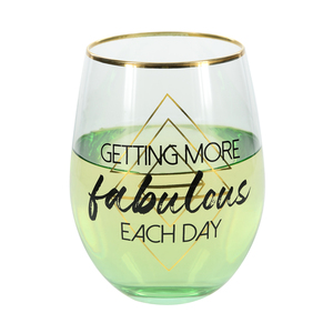Fabulous by Salty Celebration - Stemless Wine Glass