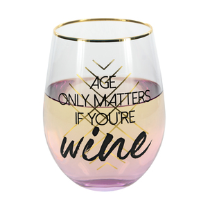 Wine by Salty Celebration - Stemless Wine Glass