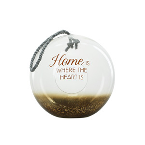 "Home by Lots of Lanterns - 11.5"" Bronze Glass Lantern"