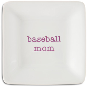 "Baseball Mom by Mom Love - 4.5"" Keepsake Dish"