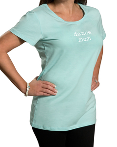 Dance Mom by Mom Love - Small Teal/Mint Green T-Shirt