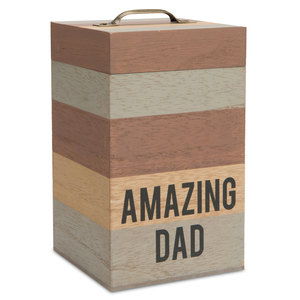 "Dad by Man Made - 6.25"" MDF Container"