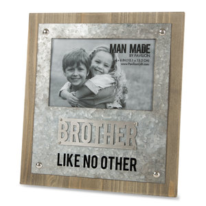 "Brother by Man Made - 8.25"" x 9"" Frame (Holds 4"" x 6"" Photo)"