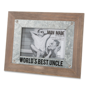 "Uncle by Man Made - 9.5"" x 7.5"" Frame (Holds 4"" x 6"" Photo)"