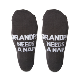 Grandpa Nap by Man Made - Mens Cotton Blend Sock