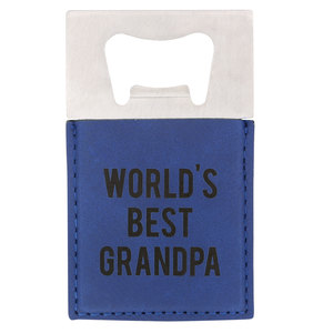 "Grandpa by Man Made - 2"" x 3.5"" Bottle Opener Magnet"
