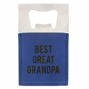 "Great Grandpa by Man Made - 2"" x 3.5"" Bottle Opener Magnet"