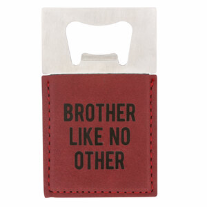 "Brother by Man Made - 2"" x 3.5"" Bottle Opener Magnet"