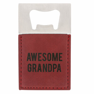 "Awesome Grandpa by Man Made - 2"" x 3.5"" Bottle Opener Magnet"