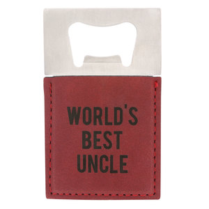 "Uncle by Man Made - 2"" x 3.5"" Bottle Opener Magnet"