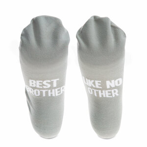 Best Brother by Man Made - Mens Cotton Blend Sock