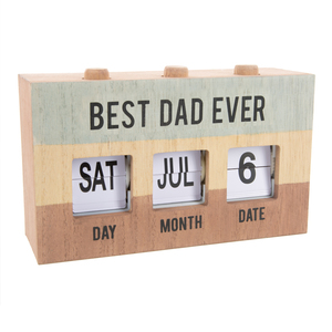Best Dad by Man Made - Perpetual Desk Calendar