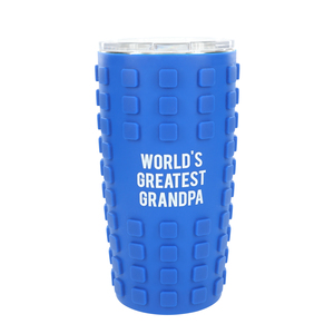 Grandpa by Man Made - 20 oz Travel Tumbler with 3D Silicone Wrap
