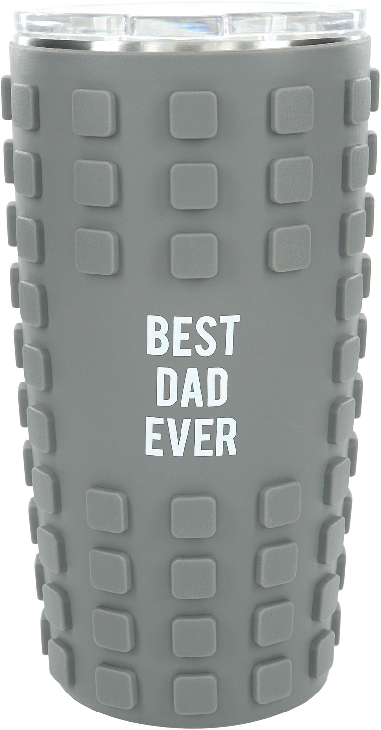 Best Dad by Man Made - Best Dad - 20 oz Travel Tumbler with 3D Silicone Wrap