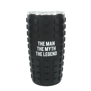 The Legend by Man Made - 20 oz Travel Tumbler with 3D Silicone Wrap