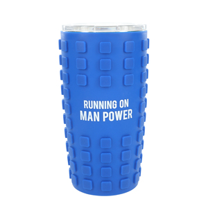 Man Power by Man Made - 20 oz Travel Tumbler with 3D Silicone Wrap