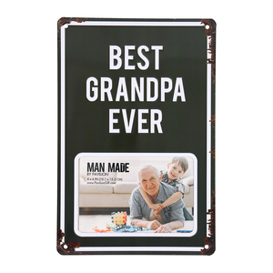 "Best Grandpa by Man Made - 8"" x 11.75"" Tin Frame (Holds 6"" x 4"" Photo)"