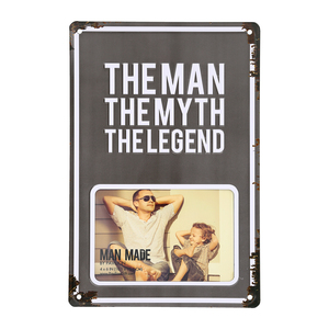 "Man Myth Legend by Man Made - 8"" x 11.75"" Tin Frame (Holds 6"" x 4"" Photo)"
