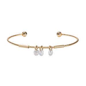 "Rosa Crystal by H2Z Made with Swarovski Elements - 2.5"" Open Bangle"