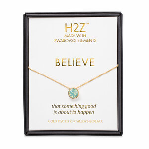 "Believe Pacific Opal by H2Z Made with Swarovski Elements - 16"" - 17.5"" Necklace"