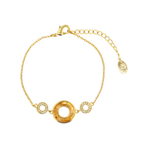 Crystal Golden Shadow Cosmic by H2Z Made with Swarovski Elements - Gold Plated Swarovski Element Bracelet