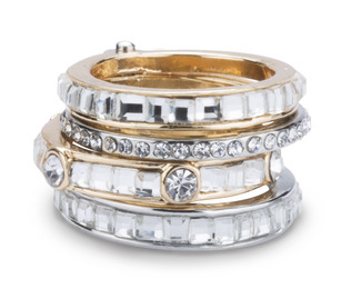 Crystal by H2Z Radiant Rings - Size 7 Ring with 4 Stacked Crystal Layers