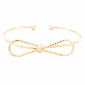 Gold Bow by H2Z Filigree Jewelry - Bangle Bracelet