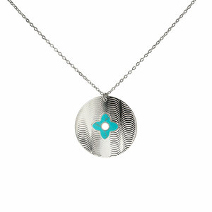 Silver Shield by H2Z Filigree Jewelry - Turquoise Necklace