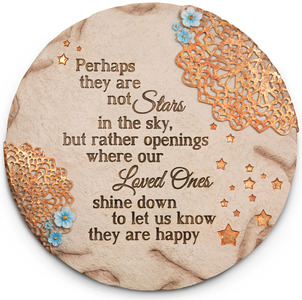 "Stars in the Sky by Light Your Way Memorial - 10"" Garden Stone"