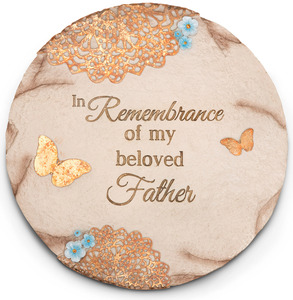 "Beloved Father by Light Your Way Memorial - 10"" Garden Stone"