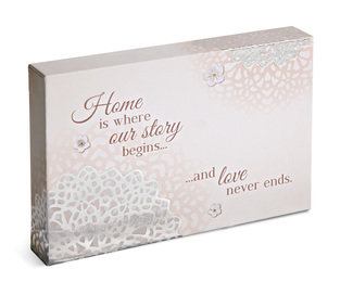 "Home by Light Your Way Every Day - 6"" x 4"" Plaque"